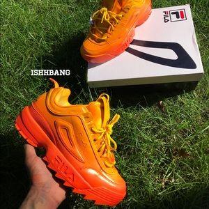 Fila Shoes   Customized Orangeyellow S